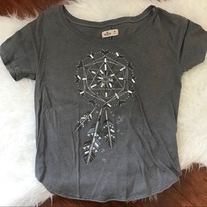 Hollister Gray Dreamcatcher Sparkle Tee